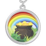 Lucky Rainbow Pot Of Gold Pendant
