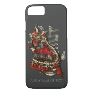 Lucky Red Chinese Dragon Symbol iPhone 7 Case
