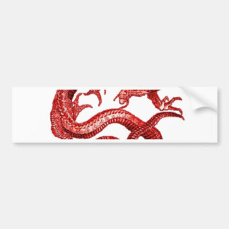 Lucky Red dragon Designed by SHARLES Bumper Sticker