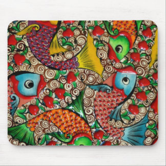 Lucky red fish mouse pad