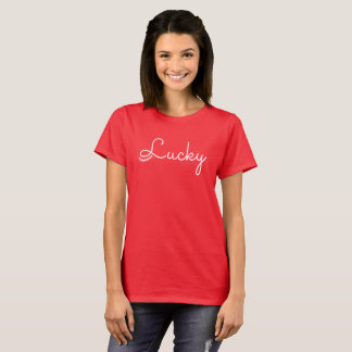 LUCKY Red Relaxed Tshirt by 72marketing