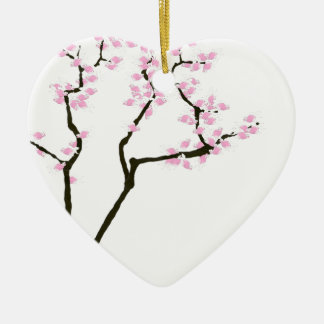 lucky sakura and pink goldfish, tony fernandes ceramic heart decoration