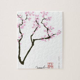 lucky sakura and pink goldfish, tony fernandes jigsaw puzzle
