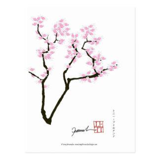 lucky sakura and pink goldfish, tony fernandes postcard