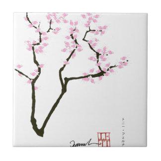 lucky sakura and pink goldfish, tony fernandes tile