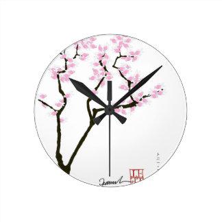 lucky sakura and pink goldfish, tony fernandes wallclock