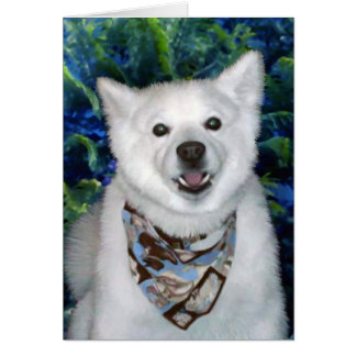 Lucky Samoyed Greeting Card