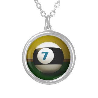 Lucky Seven Billiard Ball Necklaces