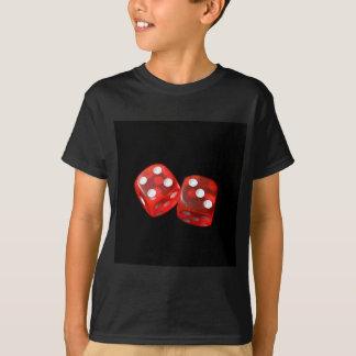 Lucky sevens Dice Red gambling 7s black red T-Shirt