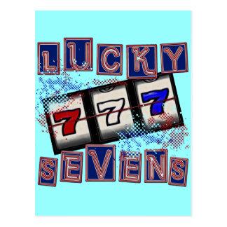 Lucky Sevens Postcard