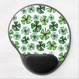 Lucky Shamrock Clover Gel Mouse Mat