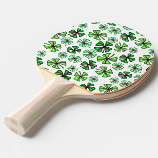 Lucky Shamrock Clover Ping Pong Paddle