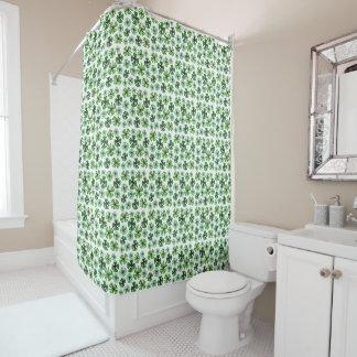 Lucky Shamrock Clover Shower Curtain