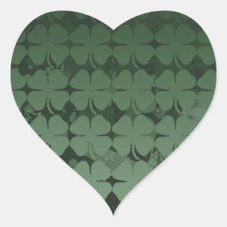 Lucky Shamrock Heart Sticker