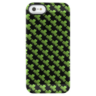 Lucky Shamrock Pattern, Black and Green Clear iPhone SE/5/5s Case
