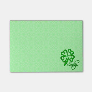 Lucky Shamrock Post-it Notes