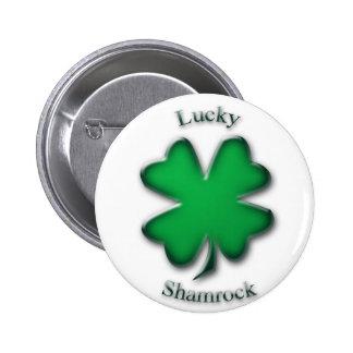 Lucky Shamrock Saint Patrick's Day Button