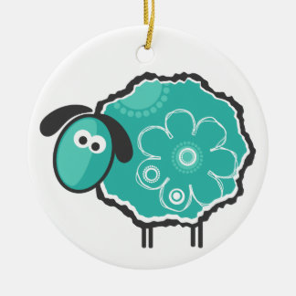Lucky Sheep Christmas Ornament