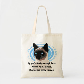 Lucky Siamese Owner Tote Bag