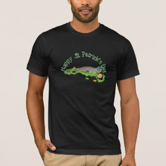 Lucky Squirrel With Big Shamrock T-Shirt