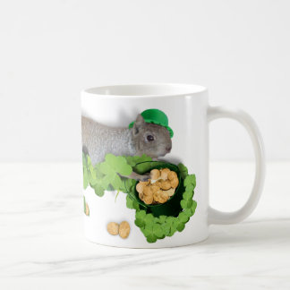 Lucky Squirrel With Pot Of Gold Coffee Mug