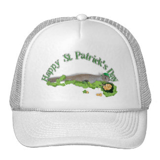 Lucky Squirrel With Pot Of Gold Mesh Hats
