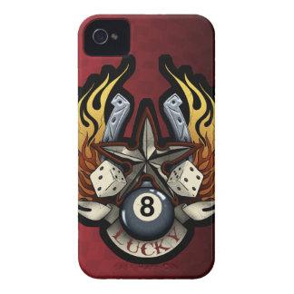 Lucky Star Gambling Illustration iPhone 4 Case