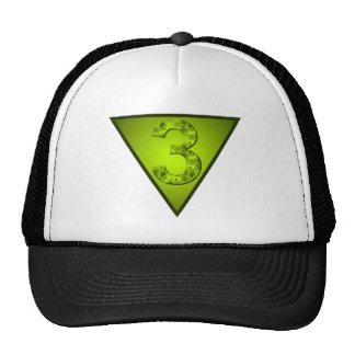 Lucky Three Inverted Triangle Crest Hat