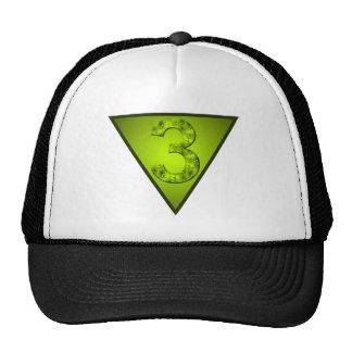 Lucky Three Inverted Triangle Feminine Symbol Mesh Hats