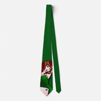 Lucky Tie 50s Pinup Girl Tie Irish Pinup Girl Tie