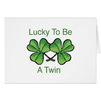Lucky To Be A Twin Cards