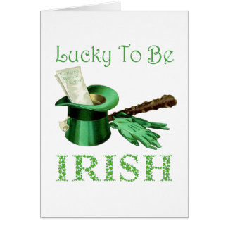 Lucky To be Irish Card
