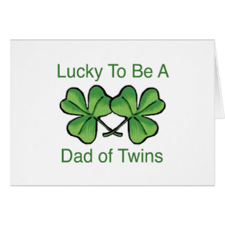 Lucky To Be Twin Dad Card