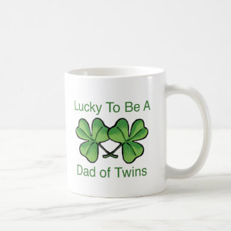 Lucky To Be Twin Dad Coffee Mug