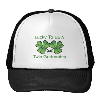Lucky To Be Twin Godmother Cap