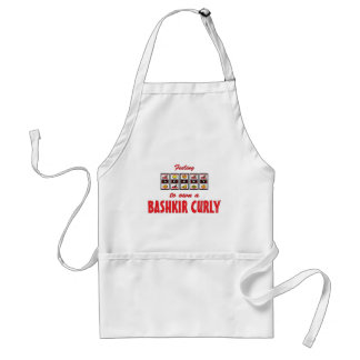 Lucky to Own a Bashkir Curly Fun Horse Design Standard Apron
