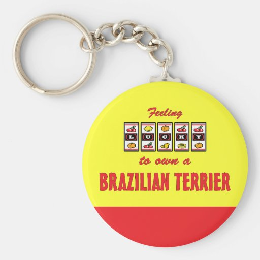 Lucky to Own a Brazilian Terrier Fun Dog Design Key Chain