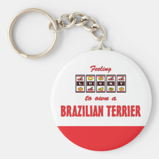 Lucky to Own a Brazilian Terrier Fun Dog Design Key Chains
