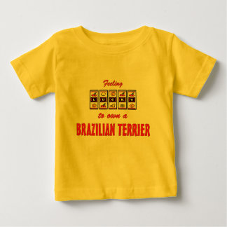 Lucky to Own a Brazilian Terrier Fun Dog Design T Shirts
