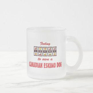 Lucky to Own a Canadian Eskimo Dog Fun Dog Design Mug