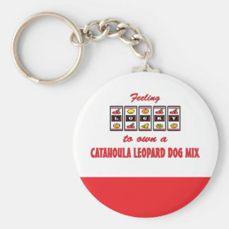 Lucky to Own a Catahoula Leopard Dog Mix Basic Round Button Key Ring