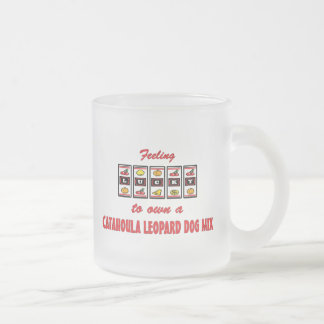Lucky to Own a Catahoula Leopard Dog Mix Frosted Glass Mug