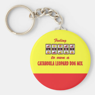 Lucky to Own a Catahoula Leopard Dog Mix Key Ring