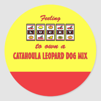 Lucky to Own a Catahoula Leopard Dog Mix Stickers