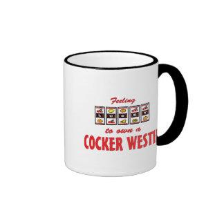 Lucky to Own a Cocker Westie Fun Dog Design Ringer Mug