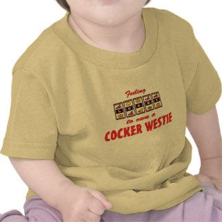 Lucky to Own a Cocker Westie Fun Dog Design T Shirt