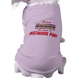 Lucky to Own a Dartmoor Pony Fun Design Dog Tee Shirt
