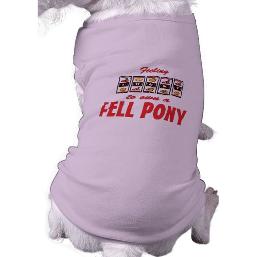 Lucky to Own a Fell Pony Fun Design Dog Clothes