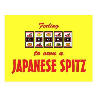 Lucky to Own a Japanese Spitz Fun Dog Design Postcard