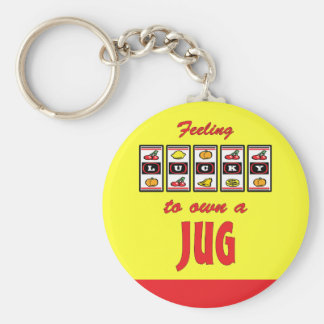 Lucky to Own a Jug Fun Dog Design Key Chains